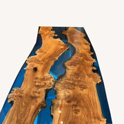Walnut And Epoxy Resin Table Countertop Table Natural Wood Home Deco Made To Order
