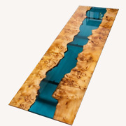 Blue Epoxy Clear Resin Table Conference Dining Table Home Decor Made To Order