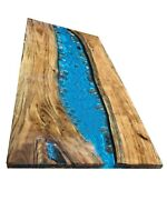 Epoxy Table Natural Wood Ocean River Resin Table Restaurant Decor Made To Order