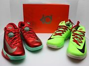 Nike Kd Vi 6 Christmas And Size 10.5 -holiday-durant-n7-ext Gum- 599424 601
