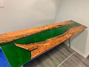 Custom River Epoxy Table Dining Table Natural Wooden Walnut Table Kitchen Decors