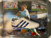 Sergio Aguero Signed And Worn Boot In A Dome Frame - Champions Season 2011/12