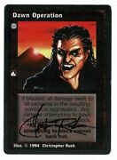Christopher Rush Signed Magic The Gathering Card Amco 14372