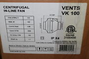 Vents In-line Centrifugal Fan Air Duct Booster White 4 Tf4