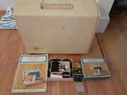 Vintage Singer Touch And Sew Sewing Machine Model 638 W/ Case