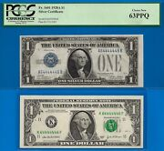 1928-a And 2003-a 1 S/c And Frn 64444446 Pcgs New 63ppq And Unc Perfect-radar-