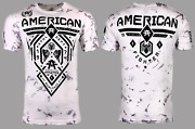 American Fighter Menand039s T-shirt Fairbanks Athletic Biker White Mma S-5xl