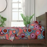 Asian Inspired Bright Mandalas Funky 100 Cotton Sateen Sheet Set By Roostery