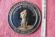 Brass Plaque Uss Yellowstone Ad27 Queen Of The Tenders Old Faithful Geyser Cast