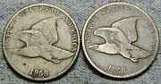1858 Ll 1858 Sl Flying Eagle Cent Penny Lot ---- Nice Type Coin Lot ---- N764