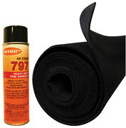 12and039 X 45 Black S60 Polymat + 1 Can 797 Glue For Boat Lift And Trailer Bunk Liner