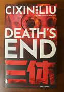 Deathand039s End By Cixin Liu Signed 1st Edition / 1st Printing Uk Limited Hardcover