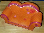 Lalaloopsy 11 Orange Pink Trim Couch Doll Furniture