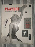 1953 Playboy 1 First Issue Signed By Hugh Hefner With Loa - Marilyn Monroe
