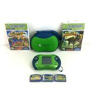 Leap Frog Leapster 2 Lot - Handheld Console, Case, 5 Games
