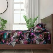 Space Stars Galaxy Modern Nebula Star 100 Cotton Sateen Sheet Set By Roostery