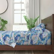 Nautilus Dance Underwater Peaceful 100 Cotton Sateen Sheet Set By Roostery