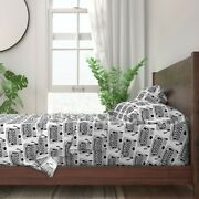 Typewriters Black And White Typing 100 Cotton Sateen Sheet Set By Roostery