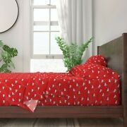 Red Sail Boat Sailing Marine Nautical 100 Cotton Sateen Sheet Set By Roostery