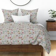 Farm Animals Cow Pig Chicken Barn Farms Nursery Sateen Duvet Cover By Roostery
