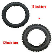Front 60/100-14 + Rear 80/100-12 3.00-12 Tire Tube For Dirt Pit Bike Pw80 Ttr90