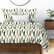 Feathers Fall Birds Luxe Arrows Indian Tribal Sateen Duvet Cover By Roostery
