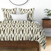 Boho Fall Feather Southwest Baby Feathers Tribal Sateen Duvet Cover By Roostery