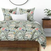 Magician Rabbit Hat Cards Dice Magic Tricks Sateen Duvet Cover By Roostery