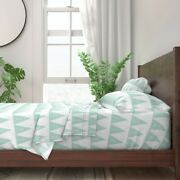 Forest Pine Tree Baby Blue Pastel Mint 100 Cotton Sateen Sheet Set By Roostery
