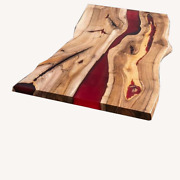 Customize Home Office Work Desk Solid Acacia Wood Table Epoxy Deco Made To Order
