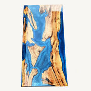 Blue River Epoxy Dining Table Maple Wood Epoxy Ocean Design Decors Made To Order