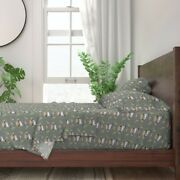 Lamb + Floral Sheep Show Stock 100 Cotton Sateen Sheet Set By Roostery