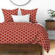 Fruit Summer Cookout Barbecue Watermelon Melon Sateen Duvet Cover By Roostery
