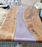 Custom Walnut Ocean River Epoxy Dining Table Coffee Table Decors Made To Order