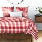 Classic Gingham Tartan Modern Julies Picnic Pinup Sateen Duvet Cover By Roostery