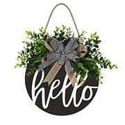 Welcome Sign Hello Front Door Round Wood Sign Hanging Welcome Sign For Farmhouse
