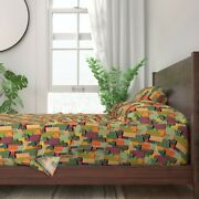 Skyscrapers 1920s Vintage Buildings 100 Cotton Sateen Sheet Set By Roostery