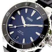 The Real Thing Oris Wristwatch 73377314135r Aquis Automatic Winding Navy Black