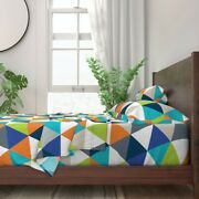 Baby Triangle Wholecloth Nursery Quilt 100 Cotton Sateen Sheet Set By Roostery