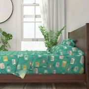 Radios 50and039 Collectible Vintage 100 Cotton Sateen Sheet Set By Roostery