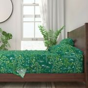 Victorian Era Green Tree Leaves Fall 100 Cotton Sateen Sheet Set By Roostery
