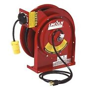Lincoln Lubrication 91031 Heavy Duty Extension Cord Reel With 20 Amp Receptacle