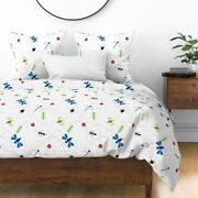 Bee Bugs Insects Spider Ant Dragonfly Ladybug Sateen Duvet Cover By Roostery