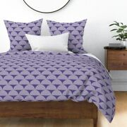 Ultra Violet Scale Scales Sunburst Radiate Violet Sateen Duvet Cover By Roostery