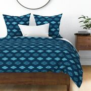Wild West Pattern Folklore Americana Stiches Sateen Duvet Cover By Roostery