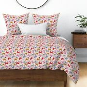 Cats Spotted Pink Animal Nursery Decor Funny Cat Sateen Duvet Cover By Roostery