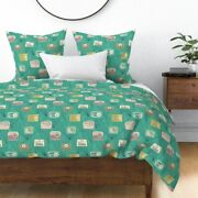 Radios 50and039 Collectible Vintage Midcentury Sateen Duvet Cover By Roostery