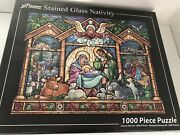 Vermont Stained Glass Christmas Nativity Jigsaw Puzzle 1000 Pieces 30 X 24 New