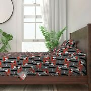 Rock Guitars And Roll Guitar Decor 100 Cotton Sateen Sheet Set By Roostery