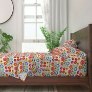 Floral Folk Art Polish Inspired 100 Cotton Sateen Sheet Set By Roostery